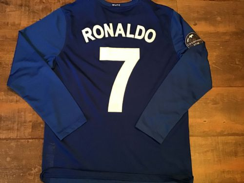 2008 2009 Manchester United Ronaldo Player Issue L/s Away Football Shirt Large